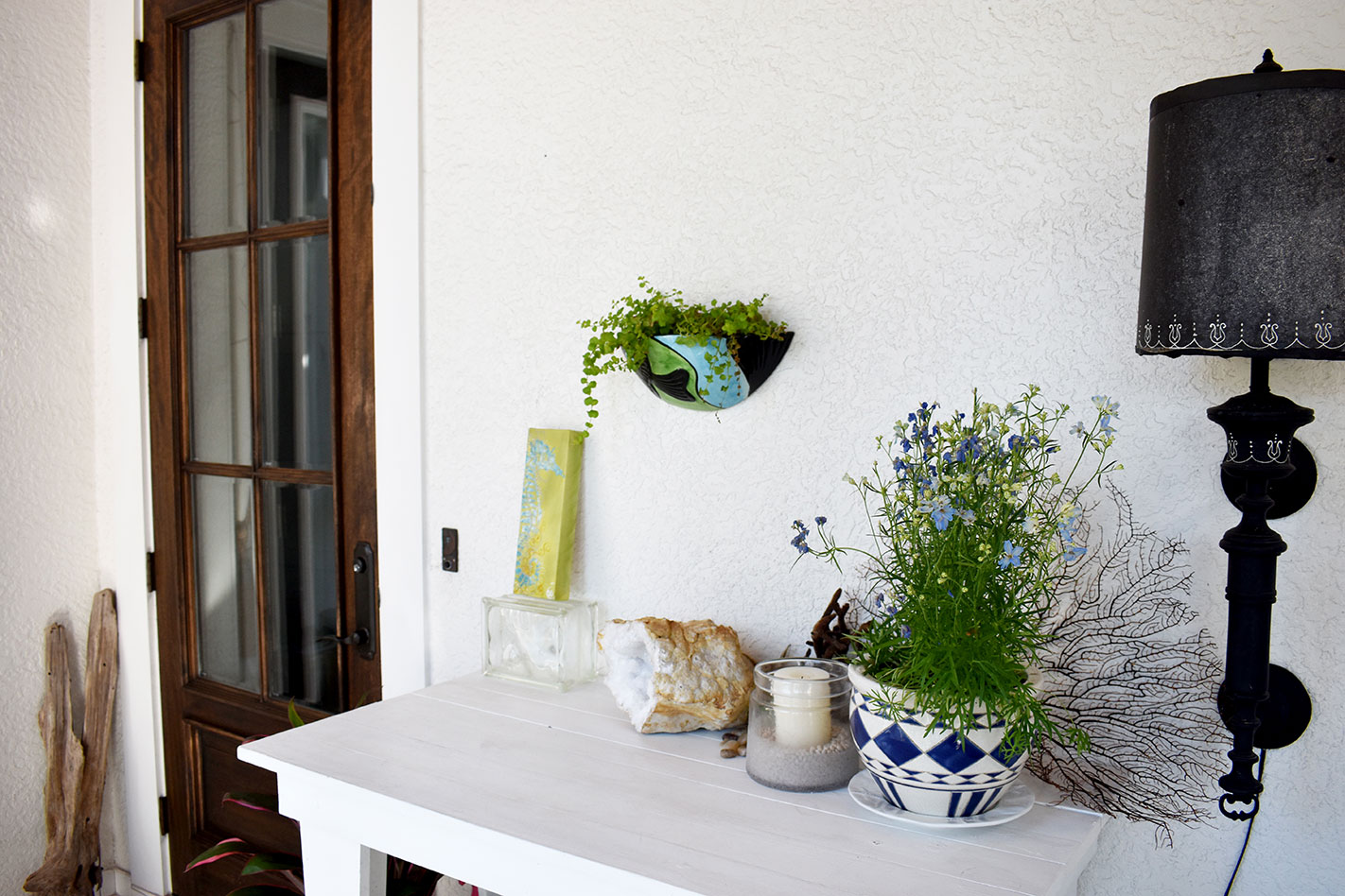 Coastal inspired front entryway