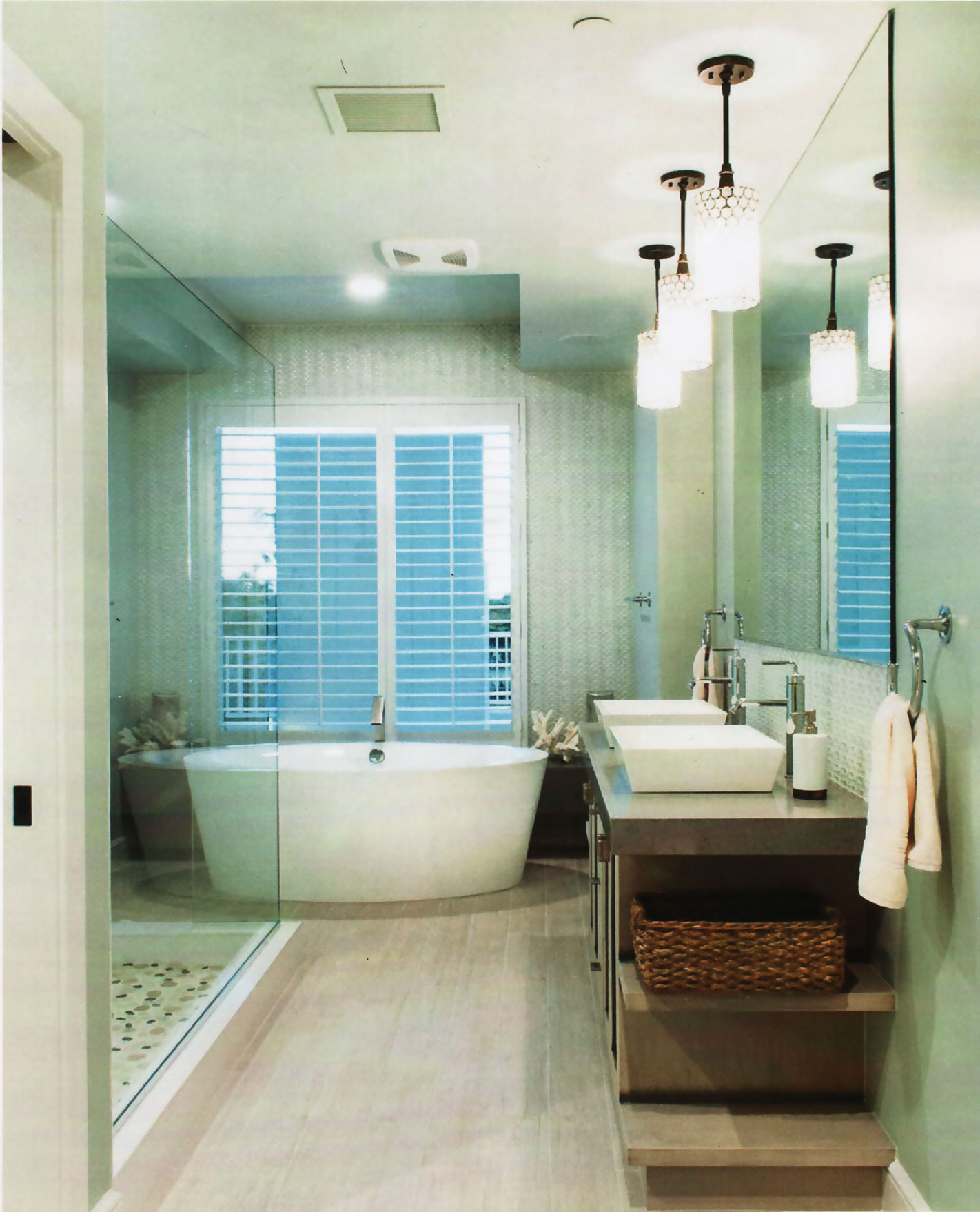 Tranquil and luxurious spa inspired master bath